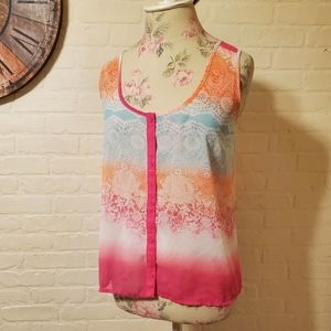 Candies High Low Sheer Tank Top